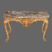 A mid-Victorian  gilt-wood console table