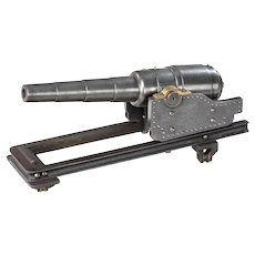 A polished steel nine stage coastal defence cannon. English, c 1900.
