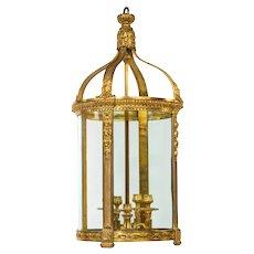 A French ormolu four-light lantern