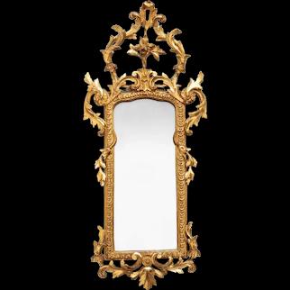 An Italian carved gilt-wood pier mirror
