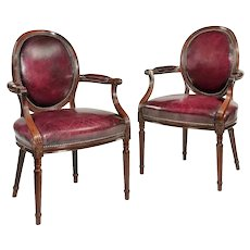 Two Edwardian mahogany chairs by Gill & Reigate