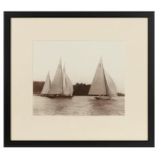 Early silver gelatin photographic print of Unity and Cutty by Kirk and Sons