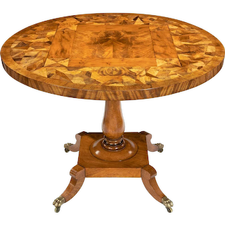 George IV tilt-top specimen table