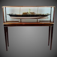 Fine shipbuilder's model of the 2nd Marquess Conyngham's Royal Yacht Squadron steam schooner 'Helen'