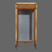 Victorian single door mahogany cabinet in the French taste