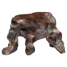 A good Chinese rootwood stool