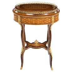 Napoleon III parquetry jardinière by Roll