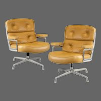 "Set of Twelve Swivel ""Time Life Chairs"" Designed by Charles & Ray Eames for Herman Miller in 1960"