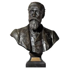 A fine late Victorian bronze study of Dr Stanley Armitage.