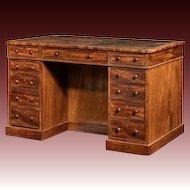 An early Victorian mahogany library desk