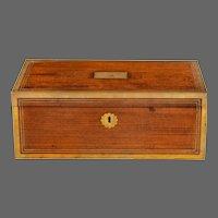 A Regency brass-bound mahogany writing slope by Hicks of London