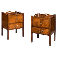 Matched pair of George III mahogany bedside commodes