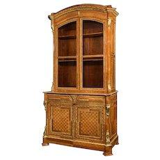A Tulipwood Bureau Bookcase