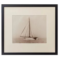 An original print of the Dutch sailing yacht Verona Signed Kirk Cowes