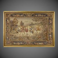 A late 19th century needlework panel