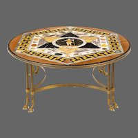 A  fine maltese specimen marble table top attributed to Joseph Darmanin of Malta