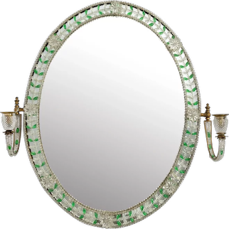 An Early 20th Century Glass Mirror