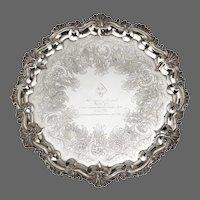 Silver salver of a Hero of Trafalgar: Captain Pryce Cumby