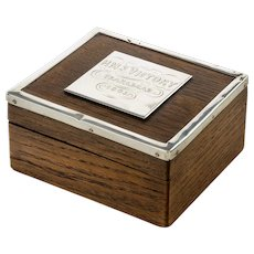 A silver mounted commemorative box made from 'Victory' oak 1888
