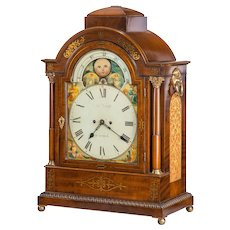 Regency mahogany brass inlaid bracket clock by John Foster