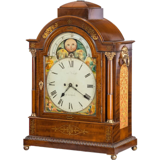 Regency mahogany brass inlaid bracket clock by John Foster