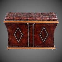 An unusual shaped William lll rosewood framed box ottoman