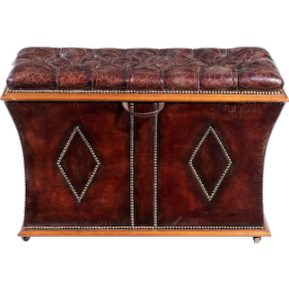 An unusual shaped William lll rosewood framed box ottoman