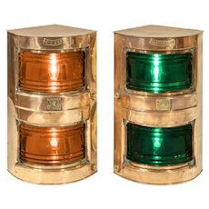 A pair of ship's navigation lights
