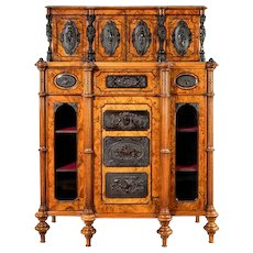 A Burr Walnut Antique Cabinet