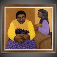 """Mario Miguel Mollari, """"Mujer con granos"""", Oil on Canvas"""