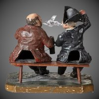 A papier mâché 'smoking' model of 'The Lobster & Crab'