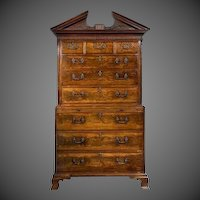 A George III mahogany tallboy in the manner of Robert Gillow