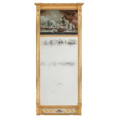 An unusual Nelson commemorative mirror c1815