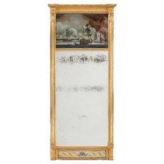 An unusual Nelson commemorative mirror c1815