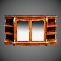 Maharajah sighns burr walnut side cabinet