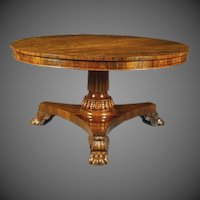 A George IV Rosewood centre table in the manner of Gillows