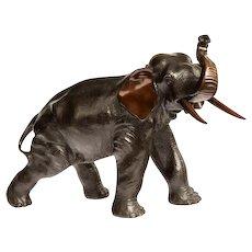 Meiji period bronze elephant