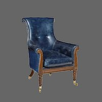 Regency Mahogany Library Chair by Gillows