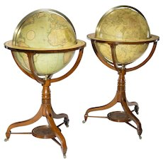 A pair of George III 21 inch globes by J&W Cary
