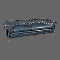 A Pair of Three Seater Victorian walnut chesterfield sofas