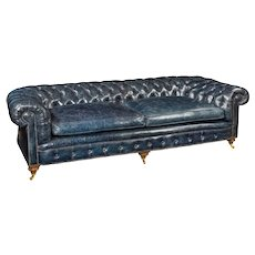 Three Seater Victorian walnut chesterfield sofa