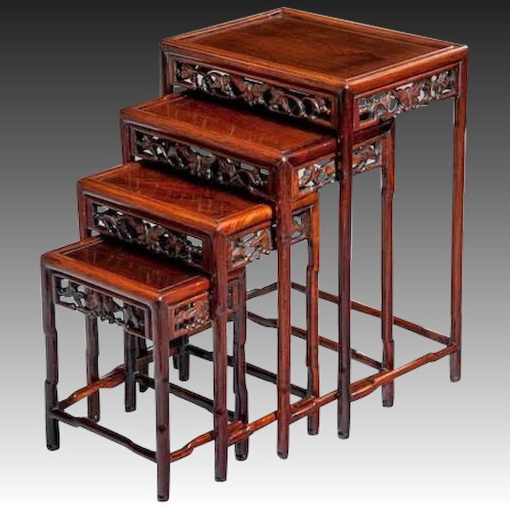 Chinese nest of tables wick antiques ltd rubylux chinese nest of tables watchthetrailerfo