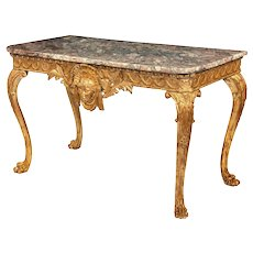 Mid-Victorian Giltwood Console Table