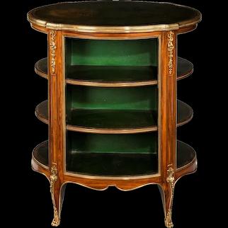 A Napoleon III kingwood freestanding open bookcase