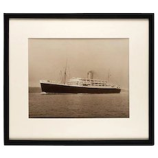 Silver gelatin photographic print by Beken of Cowes of RMS Andes