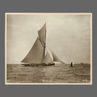 Yacht Quickstep, early silver gelatin photographic print by Beken of Cowes.