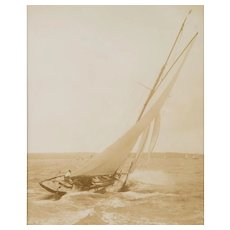 Early silver gelatin photographic print by Beken of Cowes - Yacht Solde