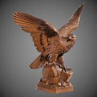 A fine 'Black Forest' walnut eagle