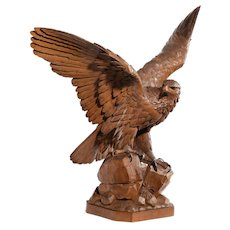 A fine 'Black Forest' walnut eagle