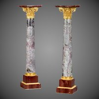 A very fine pair of antique Napoleon 111  marble and ormolu decoration.